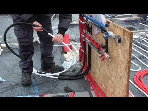 Underfloor Heating - Laying Pipes & Plumbing