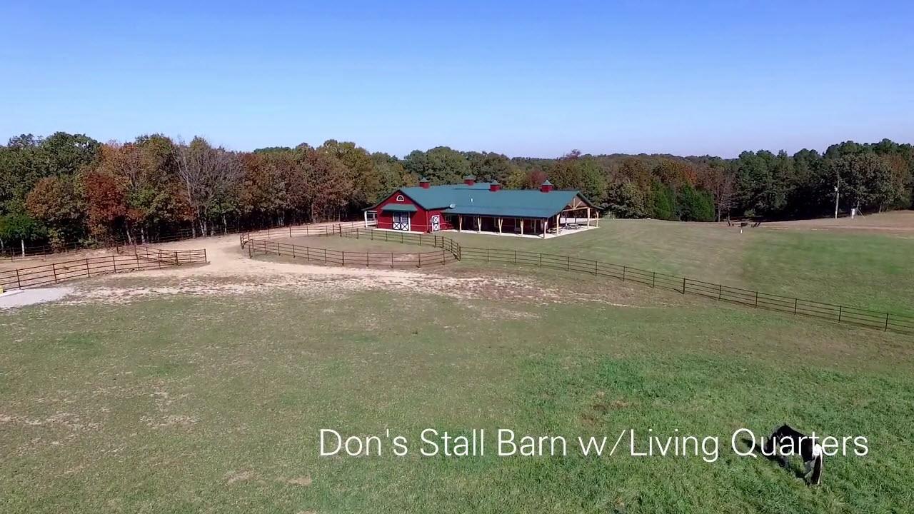 Dons stall barn w living quarters youtube