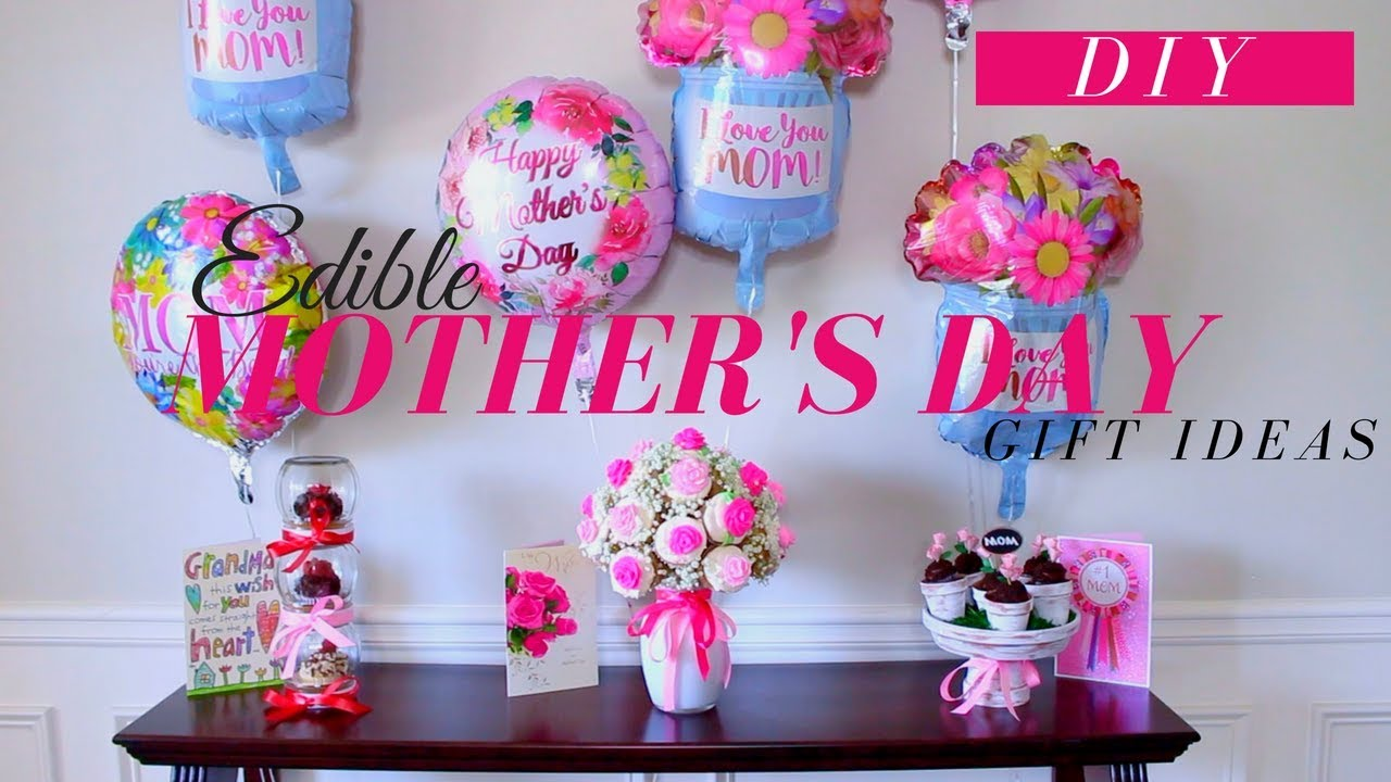 How to make a CUPCAKE BOUQUET   DIY EDIBLE MOTHER\'S DAY GIFTS - YouTube