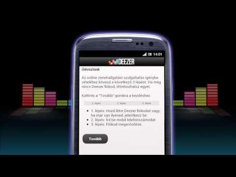 Deezer Zene regisztráció mobilon
