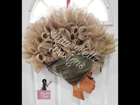 Black Girl Headwrap Wreath (The Original Creator Of The FB Viral Purple Hair Head Wrap Wreath)