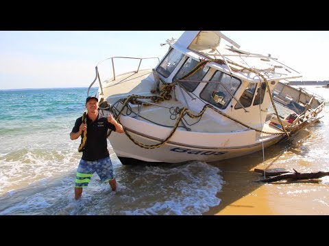 MASSIVE STORM DESTROYS BOAT, HUGE GOLD DIAMOND RING FOUND (RETURNED) METAL DETECTING TREASURE