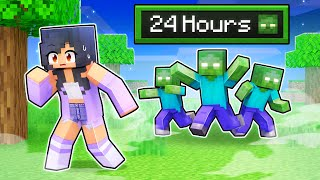 24 HOURS in a Zombie APOCALYPSE In Minecraft!