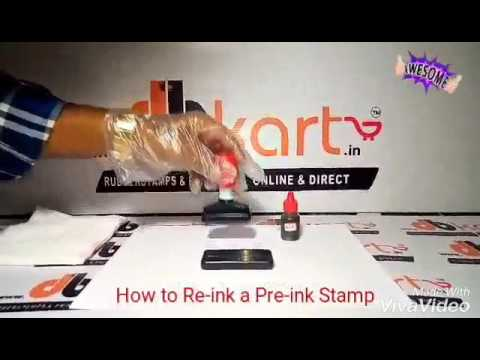 DB Stamp How To Re-ink A Preink Rubber Stamp (english)