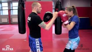 Апперкот + боковой удар в боксе — бокс для начинающих с Андреем Басыниным