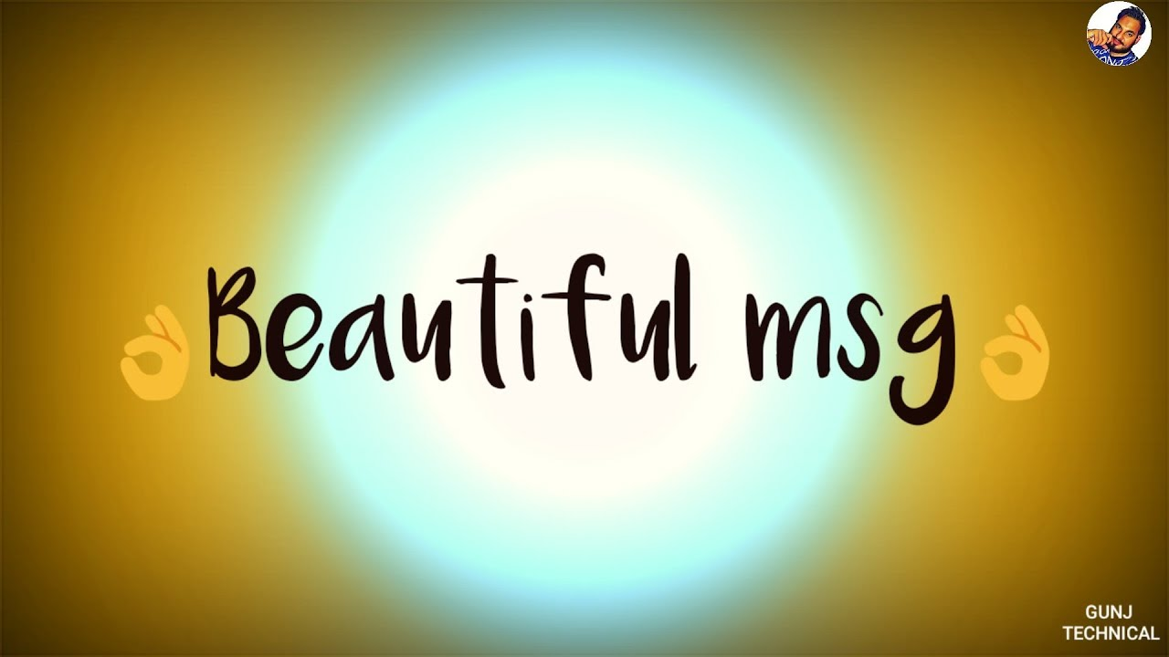 Beautiful Msg Whatsapp Status Video 30 Seconds