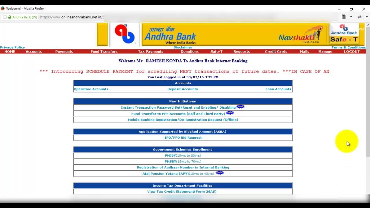 bank register