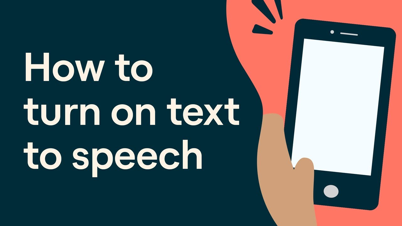 How to Turn on Text to Speech on Your Mobile Device