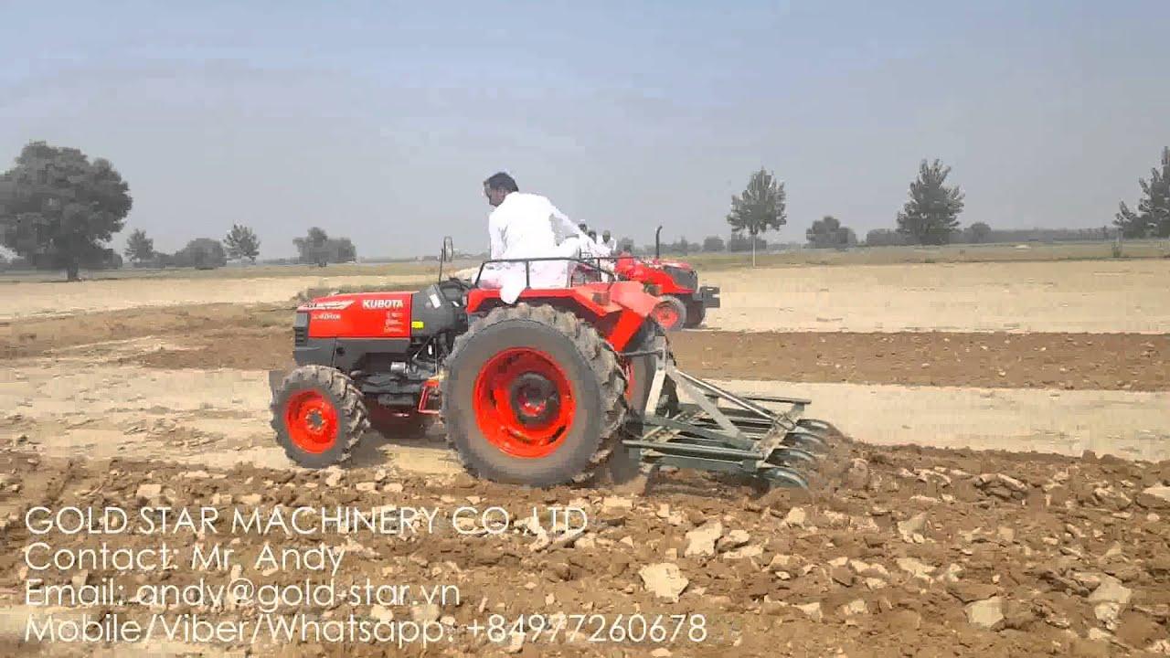 KUBOTA TRACTOR L4508 OPERATION ON INDIA FARM LAND - YouTube