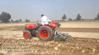 KUBOTA TRACTOR L4508 OPERATION ON INDIA FARM LAND