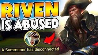 I made Riven rage quit in 6 minutes... Learn how to bully Riven players! - League of Legends