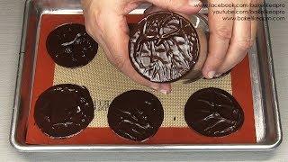 Super Easy Textured Chocolate Discs Recipe Tutorial