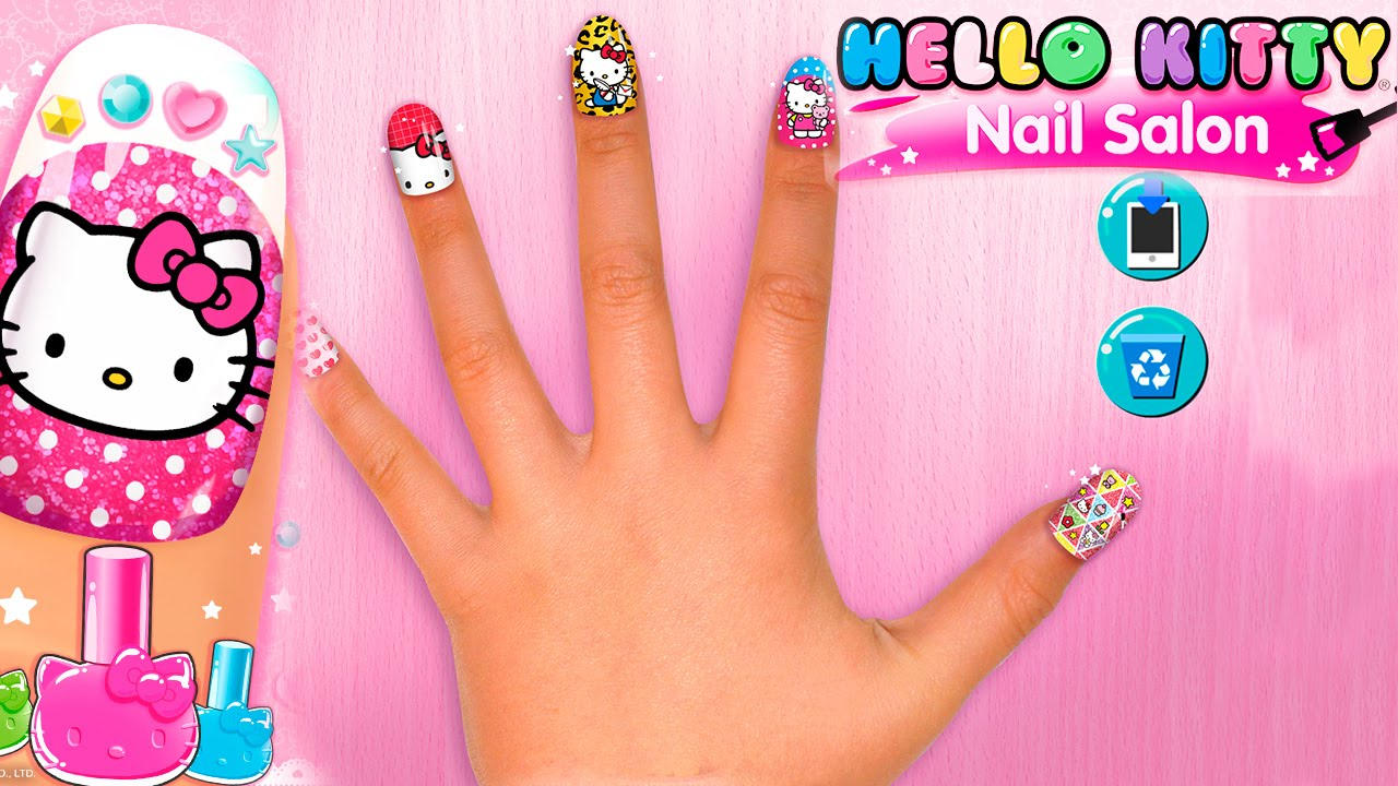 Hello Kitty Nail Salon Android Gameplay Hd Video Youtube