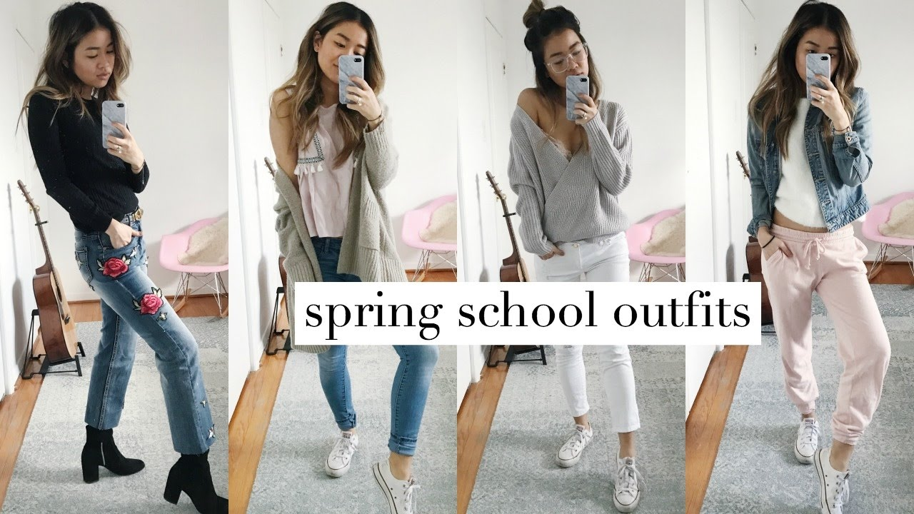 SPRING SCHOOL OUTFIT IDEAS