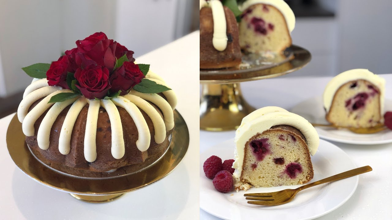 White Chocolate Raspberry Nothing Bundt Cake - CAKE STYLE