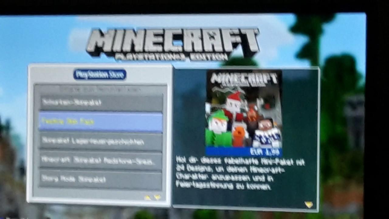 Skin Pack Glitch Minecraft Ps Link YouTube - Minecraft ps3 auf pc spielen