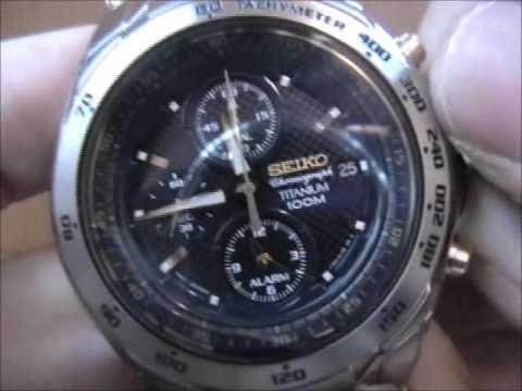 Seiko Titanium Alarm Chronograph Watch Snab93p1 Youtube
