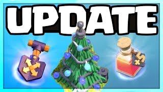 REVEALED! Clash of Clans UPDATE - NEW SHOVEL, POTION, and XMas Tree!