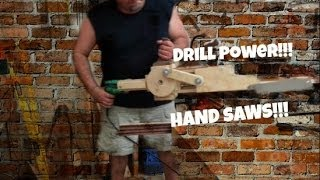 Drill Powered Hand Saw Explained