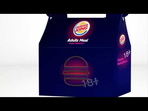 creativity burger king offers adults only valentines meal with different kind inside