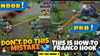 LEARNING FRANCO? MISS HOOK? WATCH THIS! MLBB 2.0 FRANCO 2019 | LEARN HOW TO FRANCO TIPS AND TRICKS