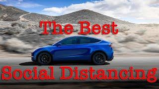 how Tesla Is Social Distancing But Still Delivering Model Y