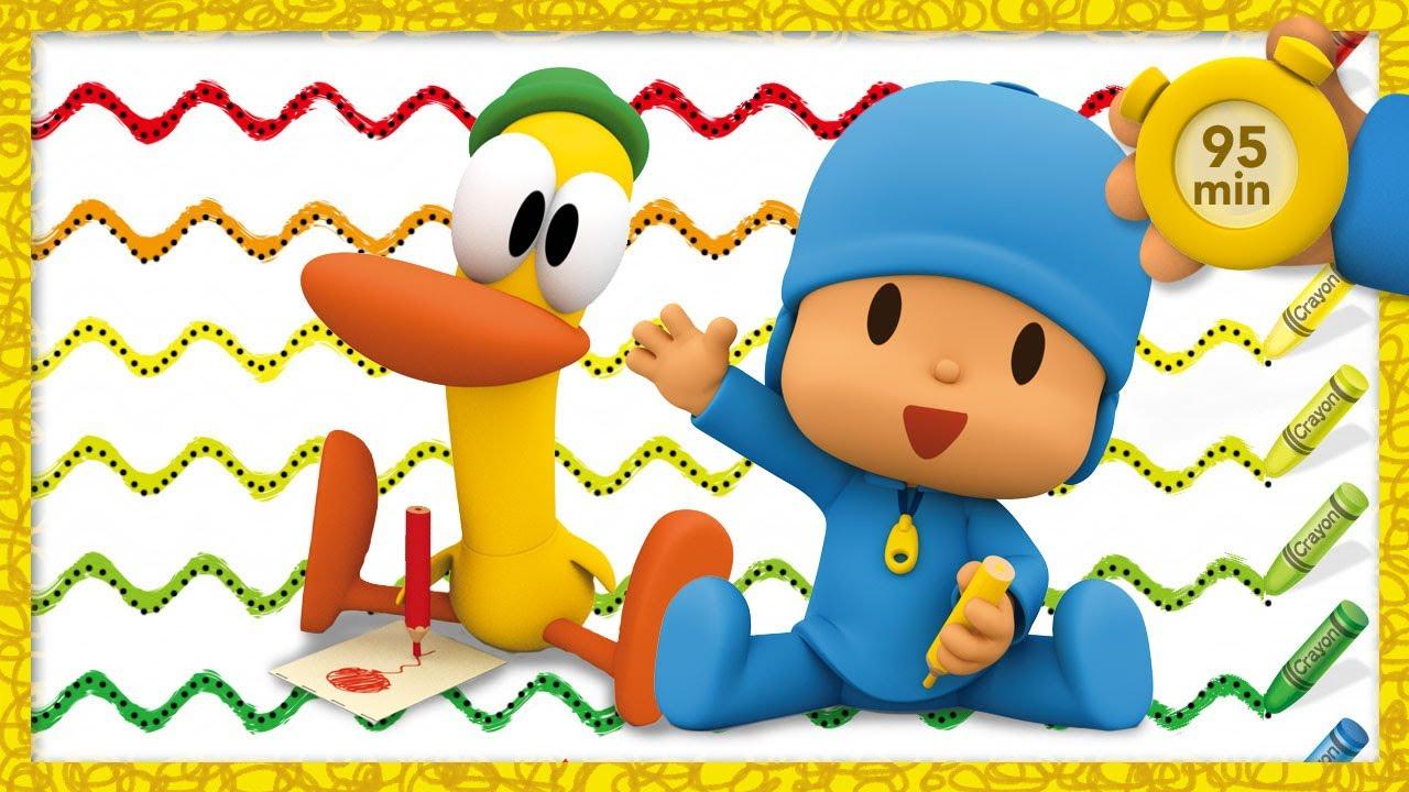 ✏️ POCOYO AND NINA - Basic writing strokes [95 min] | ANIMATED CARTOON for Children | FULL episodes