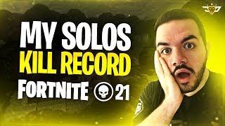 MY NEW SOLO KILL RECORD ON FORTNITE!!! - Insane Sniping!