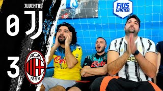 VERGOGNA!!! JUVENTUS 0-3 MILAN / REACTION LIVE w/FIUSGAMER & OHM