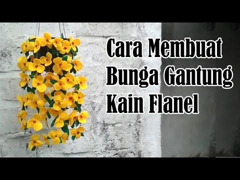 Cara Membuat Bunga Gantung dari Kain Flanel dengan Mudah