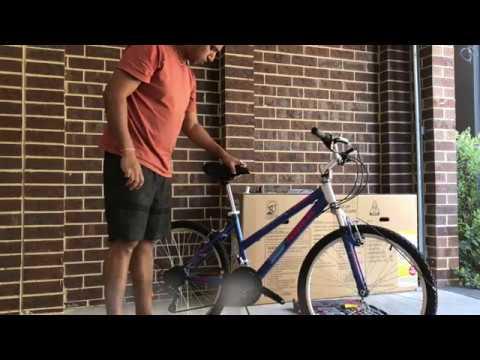 K Mart Bike Assemble 60cm Tourex Bike Blue Youtube