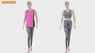 Fashion women yoga wear sets made in china supplier