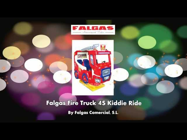 Fire Truck 4S Kiddie Ride - Coin Operated - BMIGaming.com - Falgas Amusement Rides
