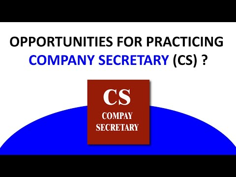 Opportunities for Practicing Company Secretary | CS Jobs