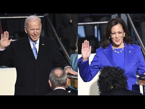 Joe Biden and Kamala Harris sworn into office