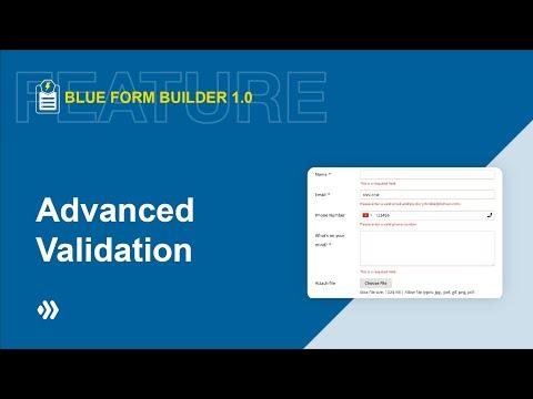 Advanced Validation   Blue Form Builder   Magento 2 Form Builder Extension