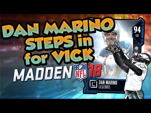 Madden 18 Ultimate Team :: Dan Marino Steps in for Vick :: Madden 18 Ultimate Team