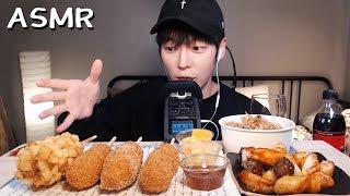 🌭대박 꿀맛 핫도그 & 튀김떡볶이,새우감자튀김 먹방 ASMR HOTDOG MUKBANG (EATING SOUNDS)