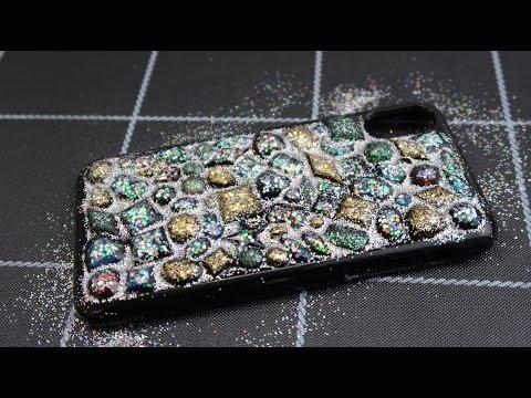 DIY Resin Gems Phone Case -  Resin Tutorial