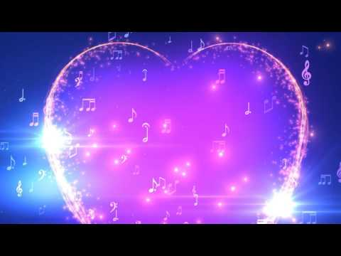 ♫ 30 Minutes ♫ Musical Heart Notes ♫ Longest HD Motion Background AA VFX