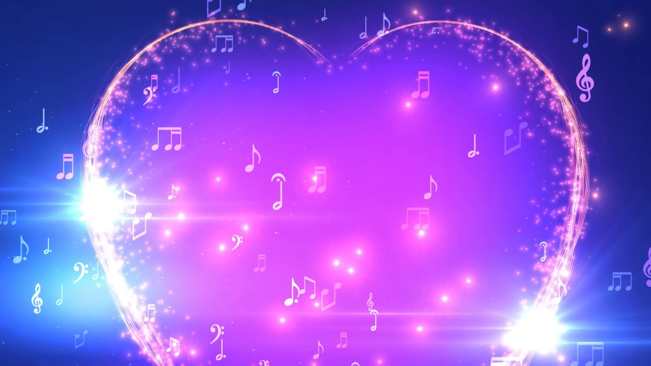 30 Minutes ♫ Musical Heart Notes ♫ Longest HD Motion ...
