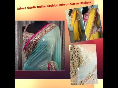 Lastest South Indian fashion mirror Saree designs