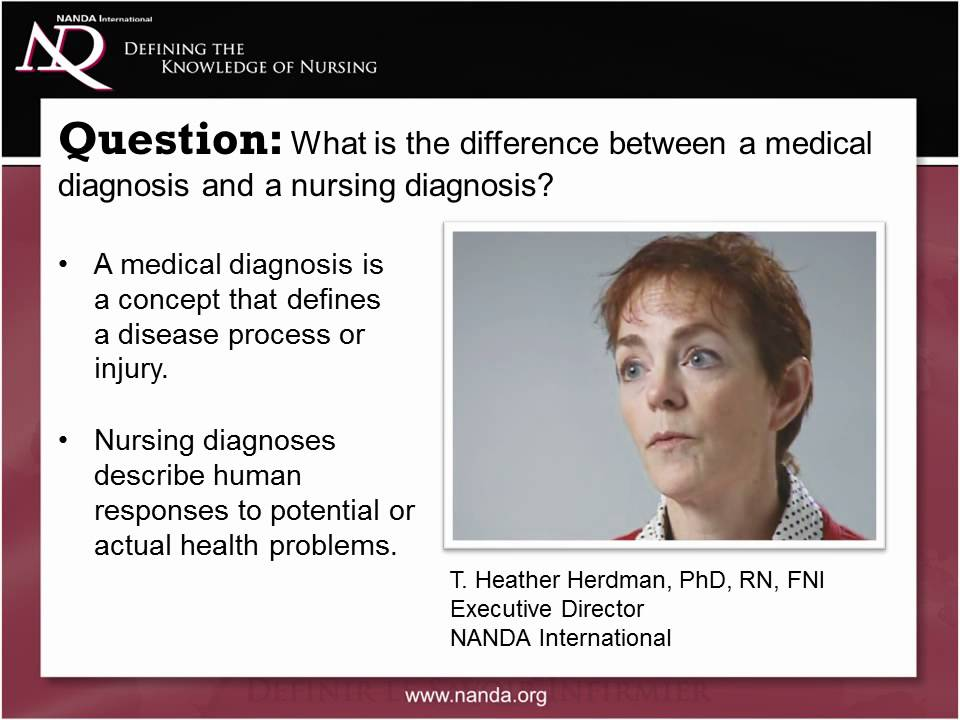 What is the difference between a medical diagnosis and a
