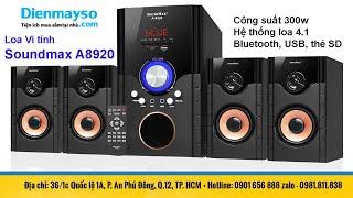 Loa Vi tính Soundmax A8920 Công suất 300w 4 loa con kết nối blutooth hát karaoke siêu hay giá 1600k