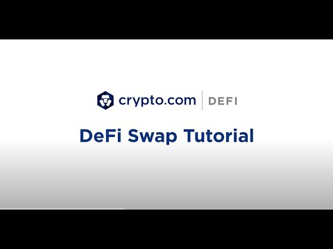 Crypto.com DeFi Swap Tutorial