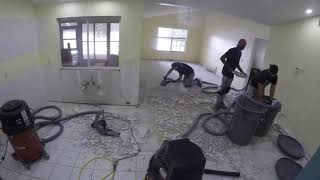 DustFree- 550 Square Foot Tile Removal- Time Lapse Video