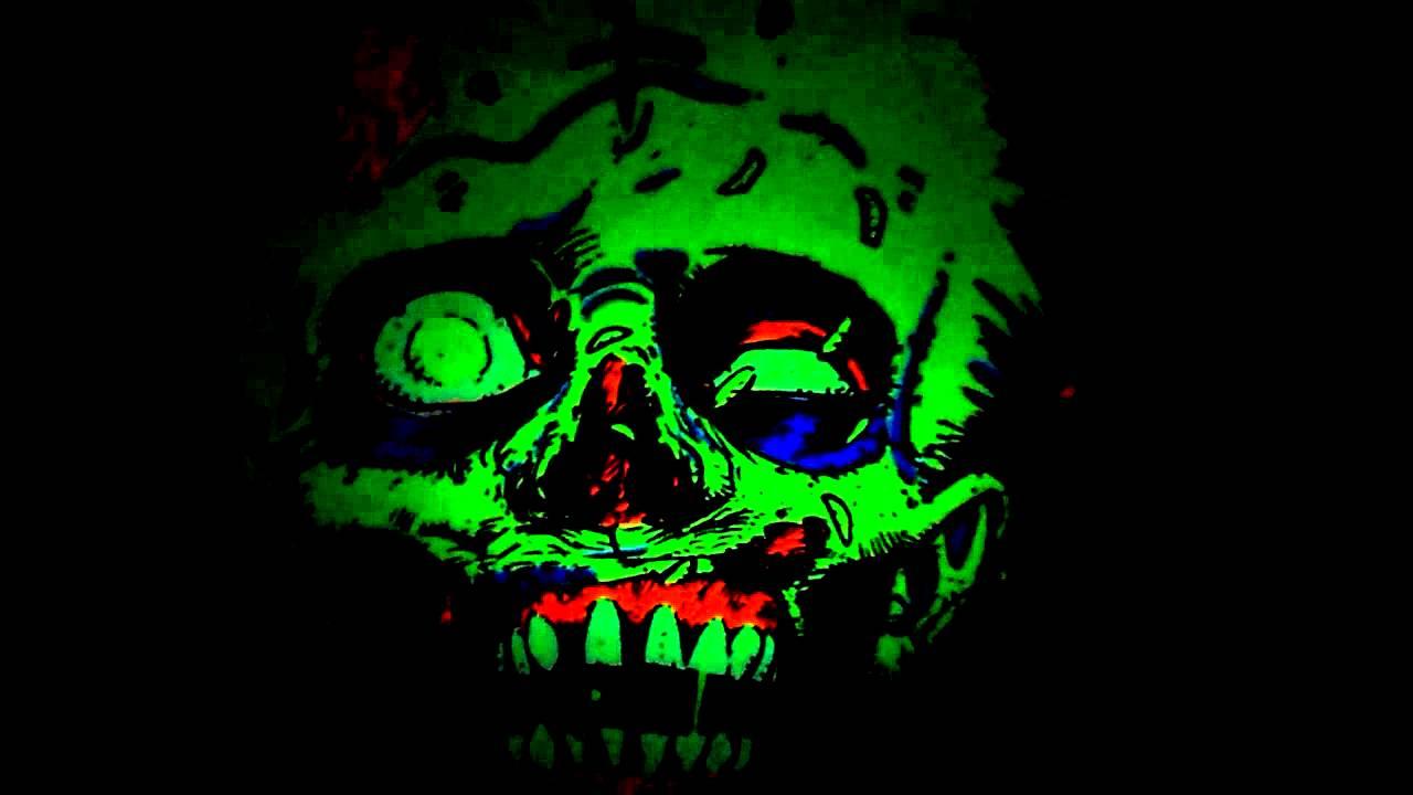 My room black light paint youtube for Black light room paint