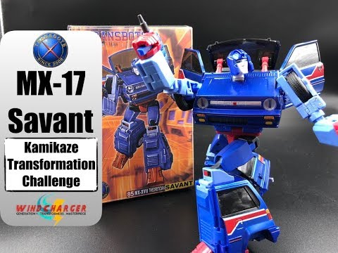 The Kamikaze Transformation Challenge: X-Transbots MX-17 Savant (not) Skids