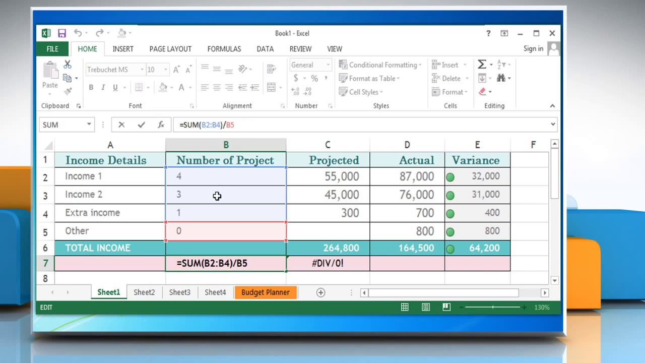 How to fix the formula error DIV/20 in Excel 220