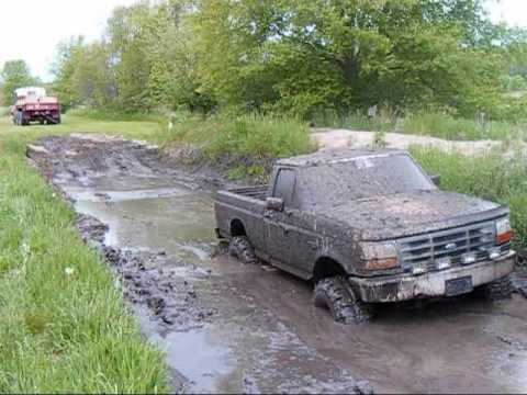 Ford Chevy And 2 5 Ton Mudding Youtube